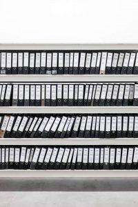Was will ich wirklich - Archiv, Regalbretter voller Ordner