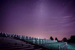 Lebensziele finden - Friedhof mit Sternenhimmel