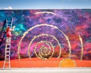 Wer bin ich wirklich? - Graffiti Spirale Kunst